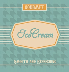 Ice cream label vector