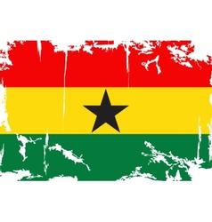 Ghana grunge flag vector