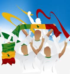 Senegalese crowd vector