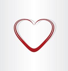 Heart shape text box frame vector