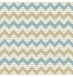 Seamless chevron pattern on linen texture vector