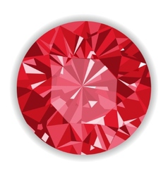 Ruby or rodolite gemstone with shape vector