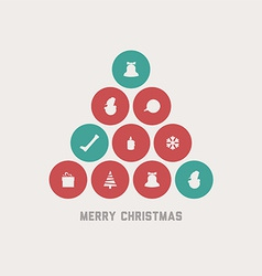 Retro christmas tree vector