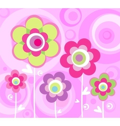 Floral pink ornament vector