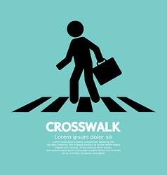 Crosswalk graphic sign vector