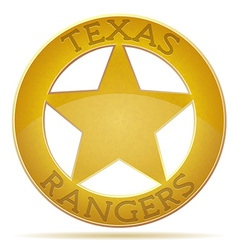 Star texas ranger vector