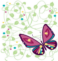 Butterflies-with-spot-of-color vector
