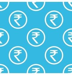 Rupee sign blue pattern vector