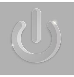Glass power icon vector