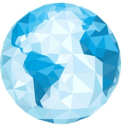 Polygonal globe vector