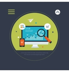 Website seo optimization and mobile marketing vector