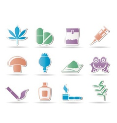 Different kind of drug icons vector
