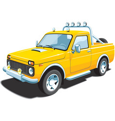 Yellow off-road vehicle vector