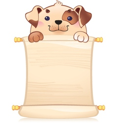 Dog with scroll vector