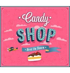Candy shop typographic design vector