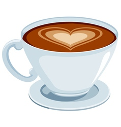 Coffee with heart vector