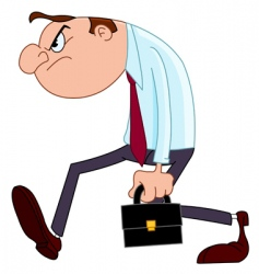 Disappointed businessman vector