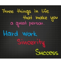 Three things in life vector
