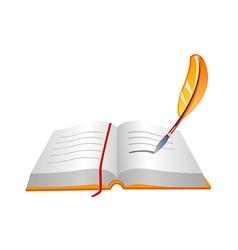 Icon book and pen vector