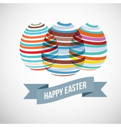 Easter eggs strips vector
