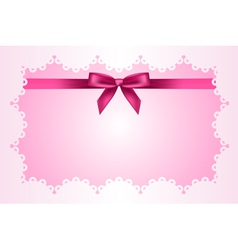 Baby pink frame vector