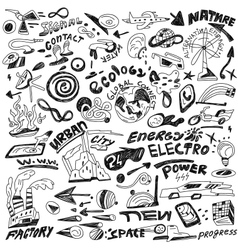Ecology - doodles vector
