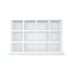 Gallery interior with empty shelves vector