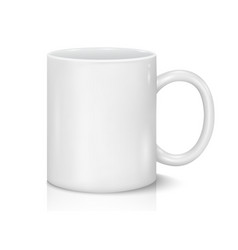 White cup for business branding and vector
