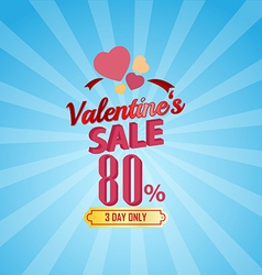Valentines day sale 80 percent typographic vector