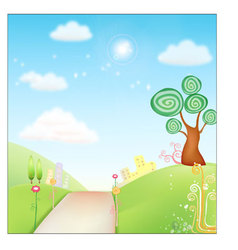 Fresh background nature vector