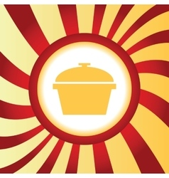 Pan abstract icon vector