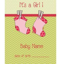 Baby arrival card vector