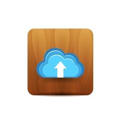 Virtual cloud icon vector