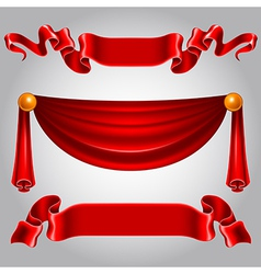 Ribbon red vector