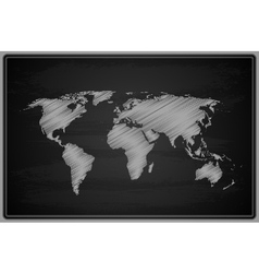 World map - chalkboard vector