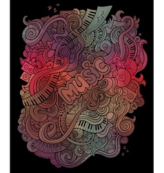 Doodles musical art background vector