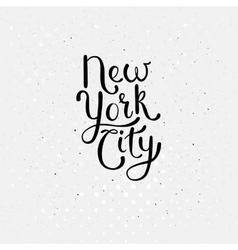 New york city concept on dotted white vector