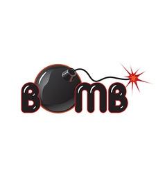 Bomb logo vector