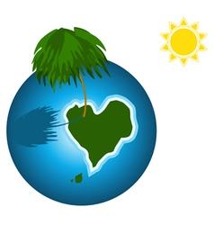 Love island on the earth vector