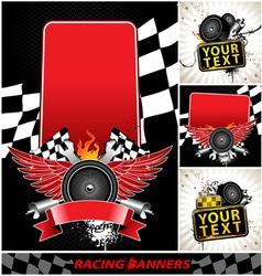 Set of racing banners vector