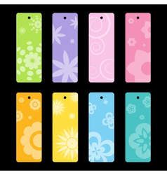 Spring flower pattern bookmarks vector