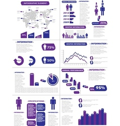 Infographic demographics new style purple vector