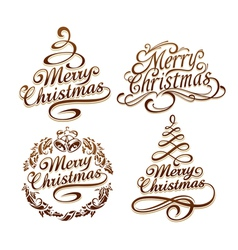 Christmas typography set vector