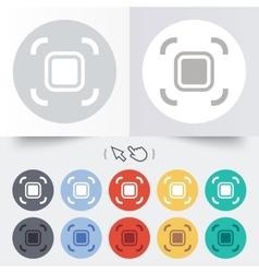 Autofocus zone sign icon photo camera settings vector