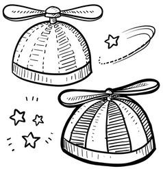 Propeller hat vector