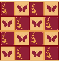 Background of abstract butterflies flying vector