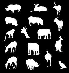 Animal group drawin vector