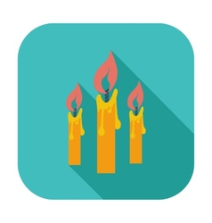 Candles single icon vector