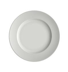 Image porcelain plates vector