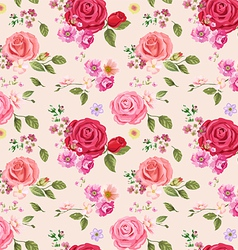 Seamless pattern roses vector